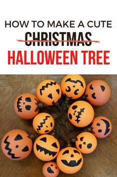 Get into the haunting mood with this creative and cheap Halloween decor idea for your entryway. Decorate for Halloween on a budget with this cute Dollar store Halloween tree. #hometalk