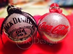 Jack Daniels and Coke Christmas Ornaments- Jack and Coke - Christmas Ornaments - Glitter Ornaments - Gift for Guys - Alcohol- Drinks