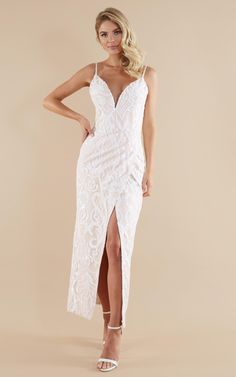 Complete your look with the This Is Love Gown In White Sequin from Showpo! Buy now, wear tomorrow with easy returns available. Cheap Wedding Dresses Online, Affordable Wedding Dresses, Cheap Dresses, Bridal Dresses, Wedding Gowns, Bridesmaid Dresses, Halter Dresses, Women's Dresses, Bridesmaids