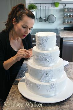 Wedding Cakes With Real Lace
