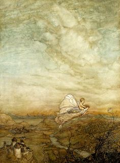 Peter Pan in Kensington Gardens. Arthur Rackham
