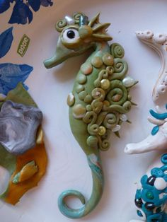 Image detail for -Polymer Clay Seahorse- Christi Friesen inspired by ~Venusmoon2313 on ...