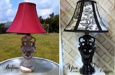 Grandma's Antique China Lamp Gets A French Country Makeover