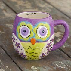 Purple Owl Mug