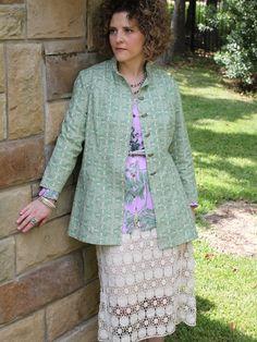 Dakota Duster (Pattern) Coat Patterns, Shirt Patterns, Mccalls Sewing Patterns, Silk Ribbon Embroidery, Dressmaking, Girl Fashion, Blue And White, Serendipity, Fabric