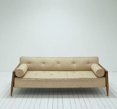 Authentic Mid-Century Modern Daybed | Cream | Birch & Brass Vintage Rentals | Weddings and Corporate Events | Austin, Texas