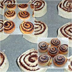 Kakaós csiga kelesztés nélkül Cake Cookies, Doughnut, Sweet Recipes, Bakery, Cheesecake, Muffin, Sweets, Bread, Breakfast