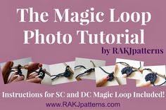 This is neat.never seen a magic loop done this way. RAKJPatterns by Kristi Simpson: Crochet Tip Series.Tip The Magic Loop Crochet Stitches, Knit Crochet, Crochet Patterns, Crochet Tutorials, How To Purl Knit, Knit Purl, Magic Loop, Crochet Magazine, Crochet Books