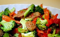 Looking for a colorful meal to throw together? Try an Italian Sausage stir fry!