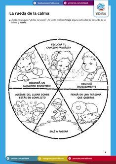 FIGURAS DE LA EPB N° 25 -Argentina - Temario: La rueda de la calma. Respirar pausadamente. 5 pasos para estar en calma. Meditar: otra manera de volver a la calma. Ejercicios que nos ayudan a calmarnos. Mandalas para pintar. ¡Chau, enojo! Las emociones provocan reacciones. El control de las emociones. Filtrando emociones. Para trabajar mejor hay que estar en calma. Pines motivacionales. Control, Coaching, Chart, Education, School, Emotions Activities, Emotional Intelligence, Special Needs, Emotions Preschool