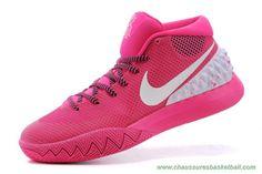 chaussures de basketball pas cher 705277-600 Rose Blanc Nike Kyrie 1 c4c60f4656f
