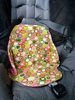 potty training car seat protector w/tutorial and free pattern. I need to make one of these.