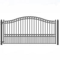 Brand New Paris Style Single Sing Iron Driveway Gate 12' X 6 1/4'