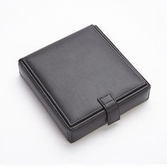 Royce Leather Royce Leather Men's Cufflink Watch and Jewelry Travel Valet Box in Leather with Suede Lining & Reviews | Wayfair