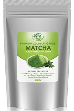 Boost Healthy Matcha Green Tea Powder, Organic Metabolism Booster, Improve Skin Health, Premium Culinary Grade in Size, 5 oz *** Details can be found by clicking on the image.