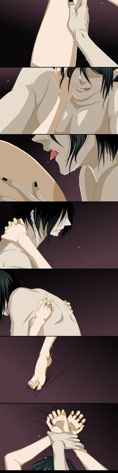 Sebastian x ciel #yaoi