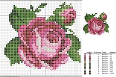 Cross Stitching, Cross Stitch Embroidery, Embroidery Patterns, Hand Embroidery, Cross Stitch Patterns, Quilt Patterns, Cross Stitch Rose, Cross Stitch Flowers, Little Designs
