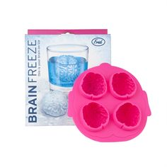 """Fred """"Brain Freeze"""" Ice Cube Tray  - $8.50 : How smart!  Available at SHOPBLUEHORSE.COM #brain #mold #ice #funny #smart Brain Mold, Frozen Ice Cube, Freeze Ice, Drink Containers, B Rain, Color Change, Halloween Party, Punch, Festive"""