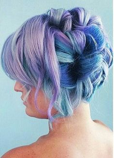 Blue purple pastel dyed hair color @theodoraraptis