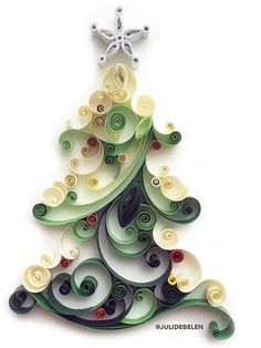 Quilling Christmas tree-natural