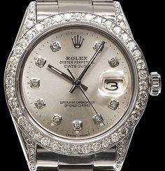 Rolex Datejust Plata, ¿No podia tener ningun modelo sin piedrecitas? Bueno, vale. Resignación.