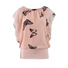 Butterfly Top - Nude