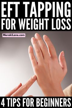 EFT Tapping for Weight Loss | If you're looking for EFT tapping tips for beginners to help reduce stress and anxiety, and to help you lose weight, this post is a great starting point. What is EFT tapping? What are the benefits of EFT tapping? Does EFT tapping help people lose weight? - We/re sharing 4 beginner tips and a step by step EFT tutorial to help you get started. Forget the weight loss plans and diets and give this a try! Weight Loss Plans, Weight Loss Tips, Lose Weight, Emotional Stress, Stress And Anxiety, What Is Eft Tapping, Getting Back In Shape, Acupressure Points, Release Stress