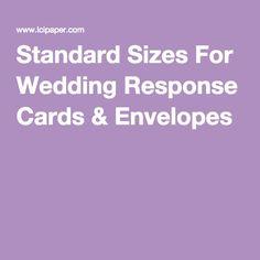 response card sizes