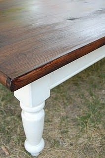 Possible revamp for coffee table from mom... or current dining table, future craft table