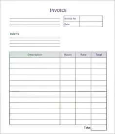 Blank Invoices To Print New 8 Best Fillable Invoice Blank In Pdf Images On Pinterest