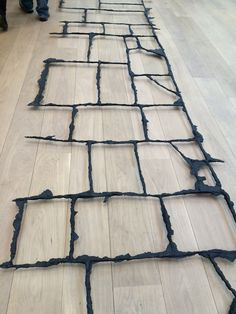 Cornelia Parker. Cast of the spaces between paving slabs.