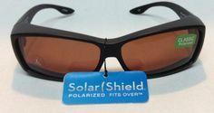 288ac7cec9b Solar Shield Fits Over Sunglasses Classic Polarized Sz L NWT Black   SolarShield  Classic Fit