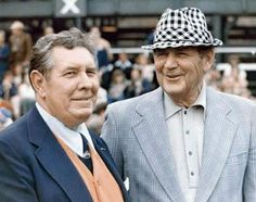 Bear Bryant and Auburn's Shug Jordan  Back when you put on your Sunday best to go to ball games. :)