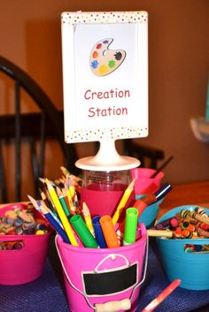 Photo 1 of 23: Arts  Crafts / Arts  Craft Party Art Party | Catch My Party