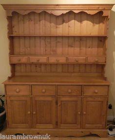 Traditional Durham Pine Welsh Dresser Sideboard | eBay