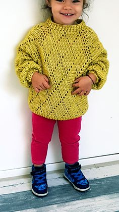 Mini Precious Sweater By ByKaterina - Free Crochet Pattern - (by-katerina) Mini Precious Sweater ByKaterina Mini Precious Sweater Free Pattern with Stitch Chart and diagram. Crochet Toddler Sweater, Crochet Baby Sweaters, Crochet Girls, Crochet For Kids, Crochet Baby Sweater Pattern, Crochet Clothes For Women, Crochet Baby Clothes, Crochet Gratis, Free Crochet
