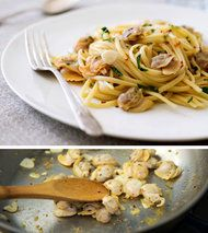 salted chopped salad, linguine with clams, vanilla fruit smoothie- NYTimes.com