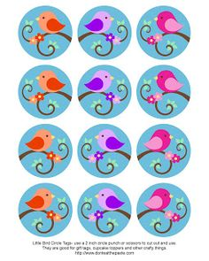 Little Bird Circle Tags
