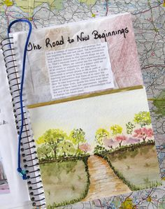 Great idea for watercolor journaling!