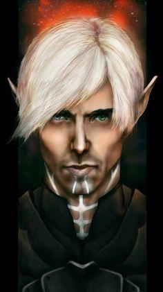 male elf; shadowrun; face
