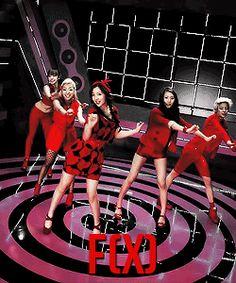 f(x) Beauties in Red GIFs Krystal Jung Luna Victoria Song Amber Liu Sulli