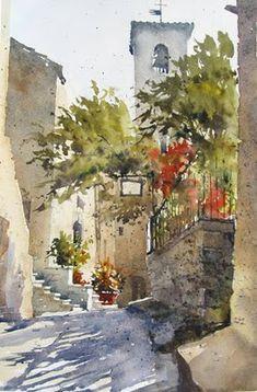 William G Hook - Civita   ..............Visit brush-paper-water.blogspot.com.au