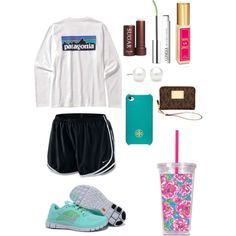 """Babysitting"" by marleymellow on Polyvore   tiffany free runs 3 ,tiffany blue nikes outfit for runner, all nike shoes for over 53% off"