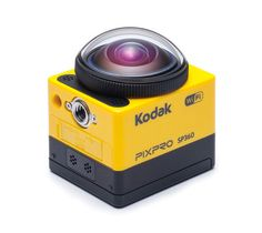 """PIXPRO SP360 is a new portable, splash-proof action camera by Kodak that is capable of shooting full HD 1080p video in 360 degrees. The camera's """"fully immersive images"""" come in a number of viewing..."""