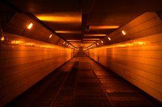 Walking through Maastunnel #Rotterdam #010
