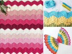 6 day kid blanket ideas ft Zig Zag Crochet Pattern, Crochet Baby Blanket Free Pattern, Crochet Square Patterns, Crochet Ripple Blanket, Crochet Stitches For Blankets, Crochet Bedspread, Crochet Toilet Roll Cover, Crochet Mermaid, Kids Blankets