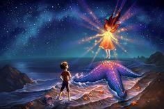 Starfish Shore Print Fantasy Fine Art Nursery