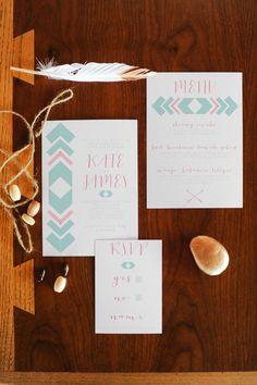 Southwestern inspired invitations, photo by Revel and Bloom http://ruffledblog.com/lovestruck-wedding-inspiration #weddinginvitations #stationery #papergoods