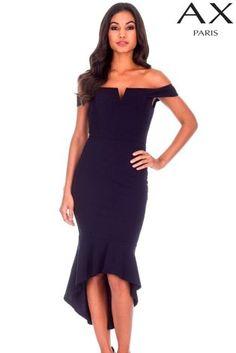 3c26990b55d Buy AX Paris Bardot High-Low Bodycon Dress from Next Ireland