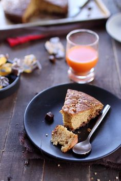 Gâteau au yaourt aux caramels